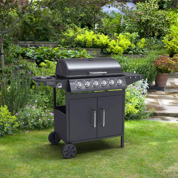 BillyOh Matrix 6+1 Hooded Gas BBQ with Side Burner